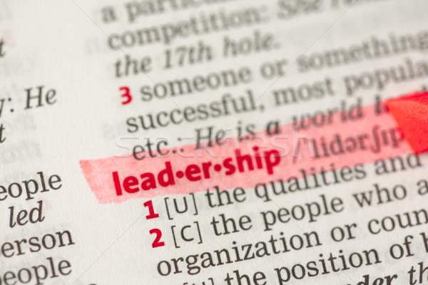 リーダーシップ 定義 赤 辞書 ビジネス ストックフォト © wavebreak_media
