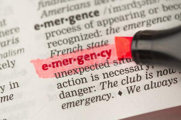 чрезвычайных определение красный словарь образование Сток-фото © wavebreak_media