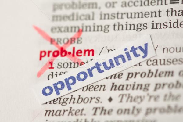 Problema definizione parola fuori opportunità dizionario Foto d'archivio © wavebreak_media