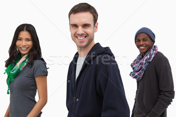 Happy stylish young people in a line Stock photo © wavebreak_media
