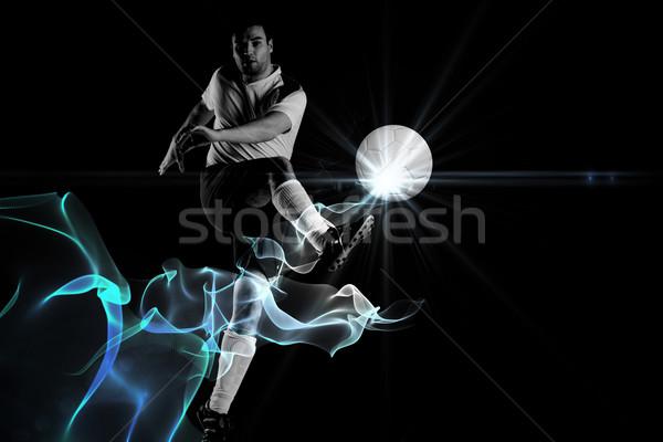 Afbeelding voetballer witte abstract Stockfoto © wavebreak_media