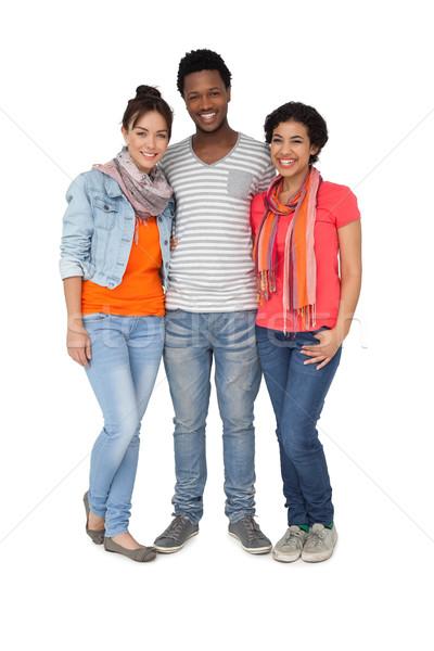 Tam uzunlukta portre üç serin genç arkadaşlar Stok fotoğraf © wavebreak_media