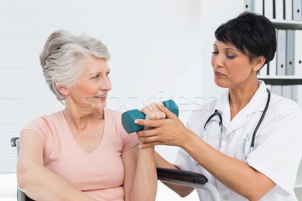 Сток-фото: старший · женщину · лифт · женщины · медицинской