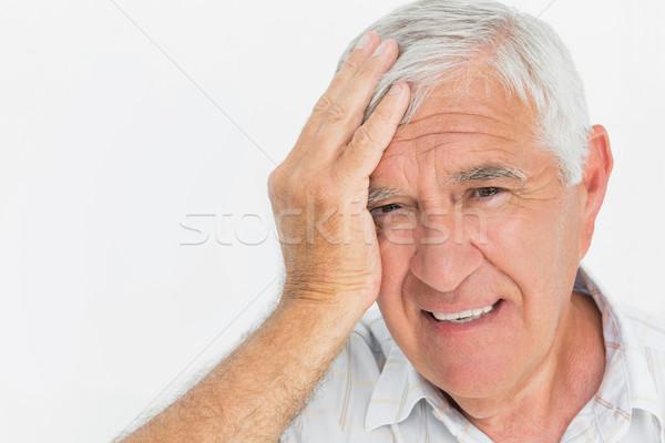 Close-up portrait of a worried senior man Stock photo © wavebreak_media
