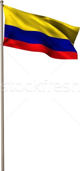 Cyfrowo wygenerowany Kolumbia banderą biały Zdjęcia stock © wavebreak_media