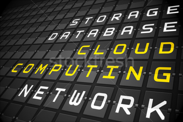Cloud computing buzzwords on black mechanical board Stock photo © wavebreak_media