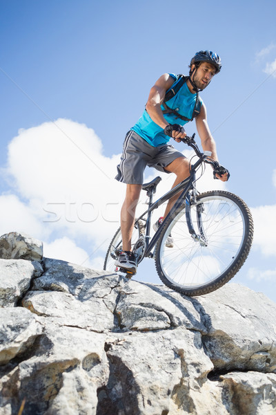 Montare uomo ciclismo terreno montagna Foto d'archivio © wavebreak_media