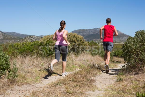 Attivo Coppia jogging paese terreno Foto d'archivio © wavebreak_media