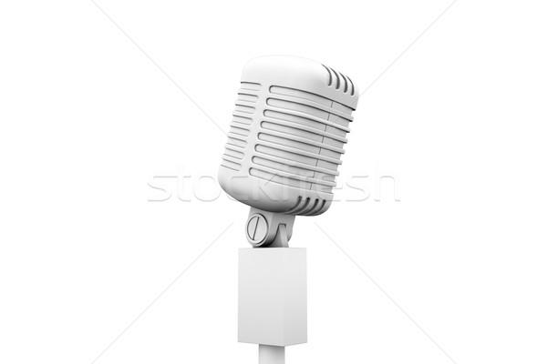 Digitally generated retro white microphone Stock photo © wavebreak_media