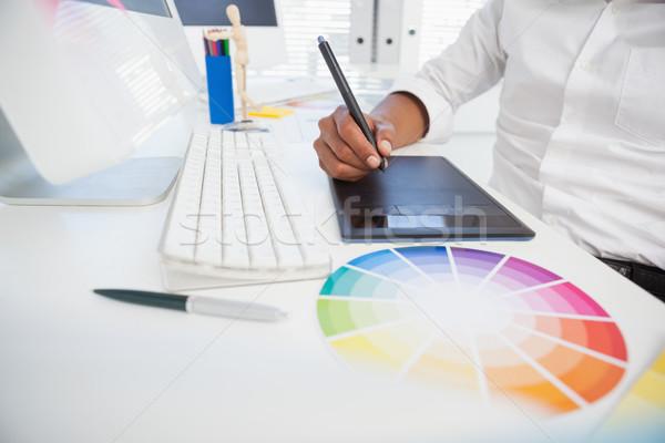 дизайнера рабочих столе компьютер дизайна работу Сток-фото © wavebreak_media