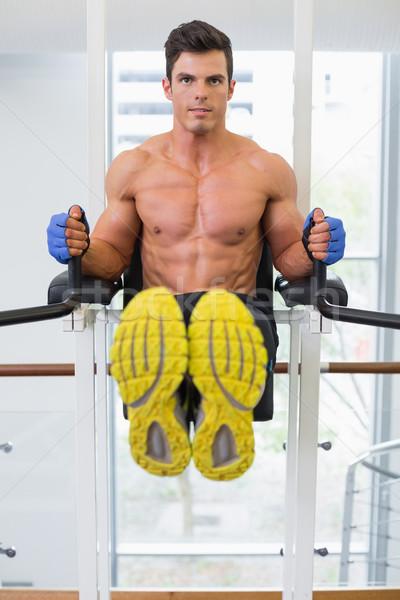 Izmos férfi crossfit fitnessz edzés tornaterem Stock fotó © wavebreak_media
