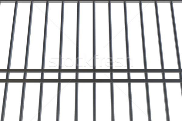 Digitalmente generato metal carcere bar bianco Foto d'archivio © wavebreak_media