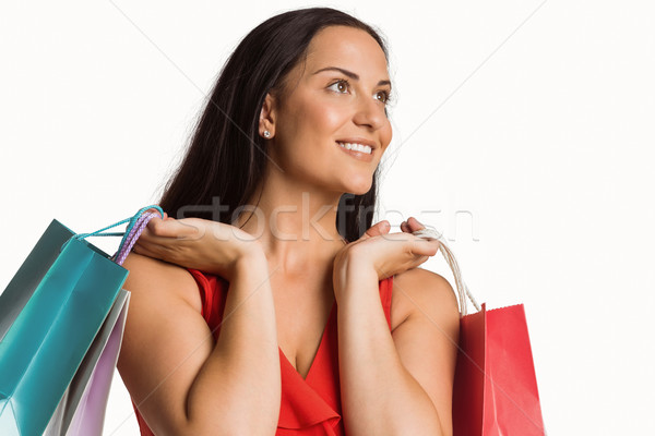 Woman standing with shopping bags Stock photo © wavebreak_media
