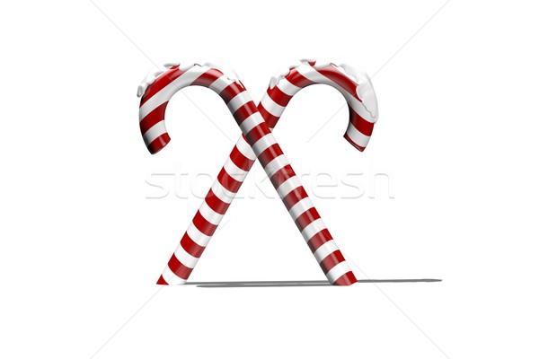 красный белый конфеты снега цифровой Рождества Сток-фото © wavebreak_media