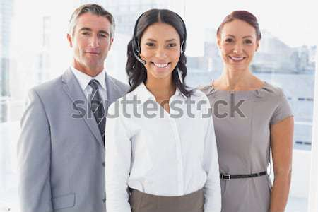 Happy young business people in office Stock photo © wavebreak_media