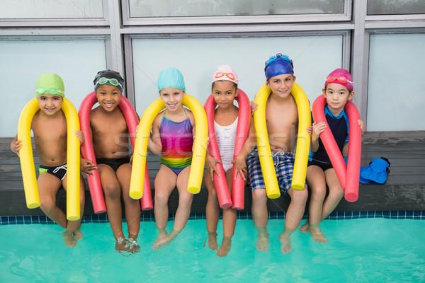 Cute nuoto classe sorridere tempo libero centro Foto d'archivio © wavebreak_media