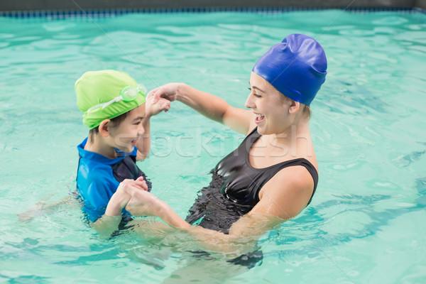 かわいい 少年 学習 泳ぐ 監督 ストックフォト © wavebreak_media