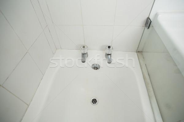 Witte bad badkamer home glas bad Stockfoto © wavebreak_media