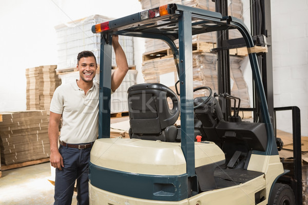 Manuel travailleur entrepôt affaires Photo stock © wavebreak_media