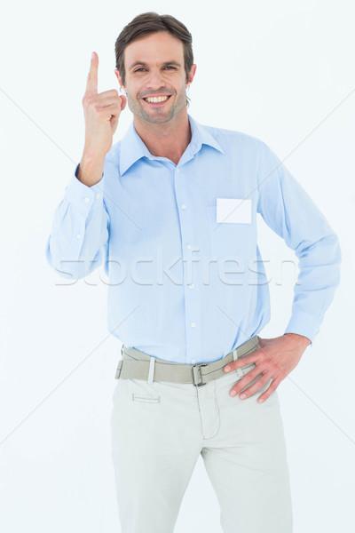 Photo stock: Affaires · pointant · portrait · homme · professionnels · souriant