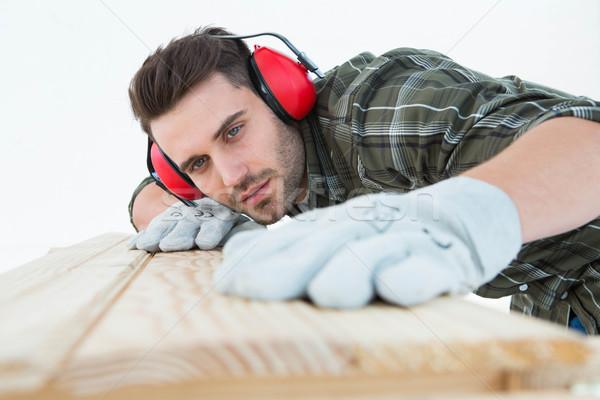 плотник доска мужчины белый Сток-фото © wavebreak_media