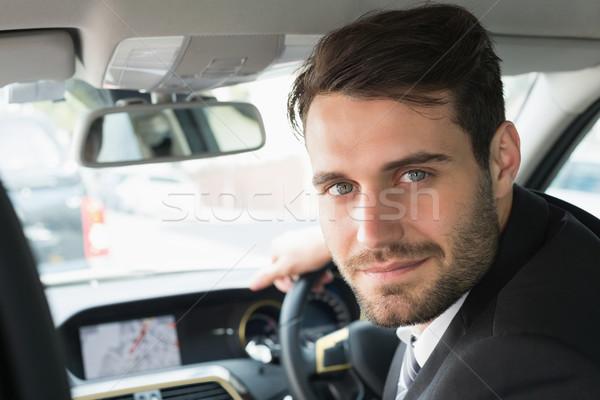 Jovem empresário olhando câmera carro negócio Foto stock © wavebreak_media