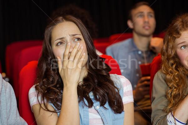 молодые друзей смотрят фильма кино женщину Сток-фото © wavebreak_media