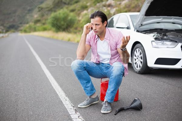 Man after a car breakdown  Stock photo © wavebreak_media