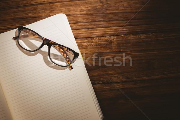 ストックフォト: 空っぽ · 帳 · 老眼鏡 · デスク · ビジネス · オフィス