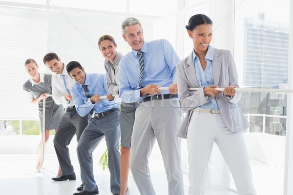 ビジネスの方々  ロープ オフィス 女性 男 ストックフォト © wavebreak_media