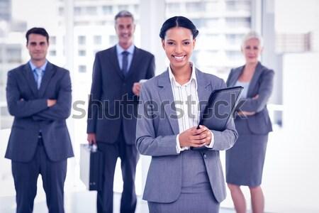 Femme d'affaires collègues derrière bureau portrait femme Photo stock © wavebreak_media