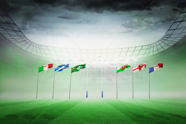 Imagen rugby estadio luz Foto stock © wavebreak_media