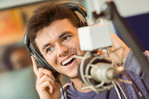 肖像 大学生 オーディオ スタジオ ラジオ 幸せ ストックフォト © wavebreak_media
