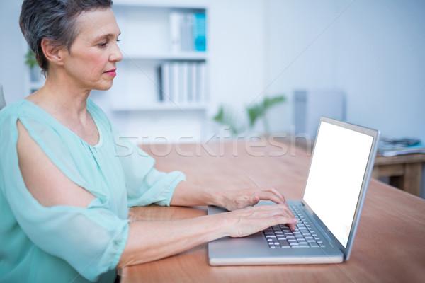 özenli işkadını çalışma dizüstü bilgisayar portre iş Stok fotoğraf © wavebreak_media
