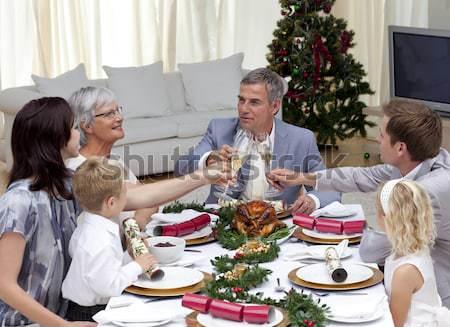 группа друзей другой еды вместе ресторан Сток-фото © wavebreak_media