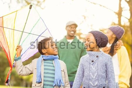 Boldog iskolás gyerekek játszik kupola iskola játszótér Stock fotó © wavebreak_media
