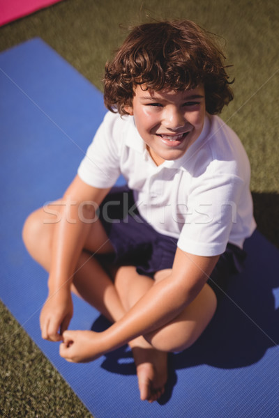 肖像 幸せ 女学生 座って 行使 草 ストックフォト © wavebreak_media