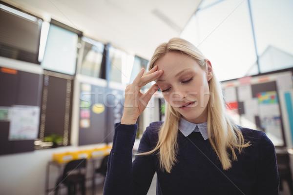 悲しい 学校 教師 教室 女性 教育 ストックフォト © wavebreak_media