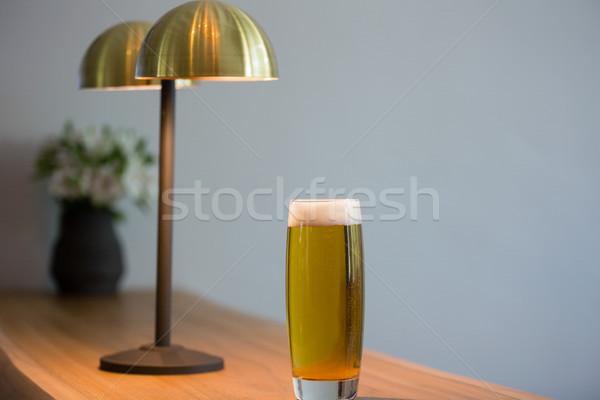 пива стекла осветительное оборудование ресторан таблице Сток-фото © wavebreak_media