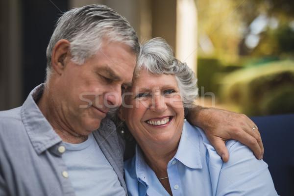Portrait of smiling senior woman embracing man Stock photo © wavebreak_media