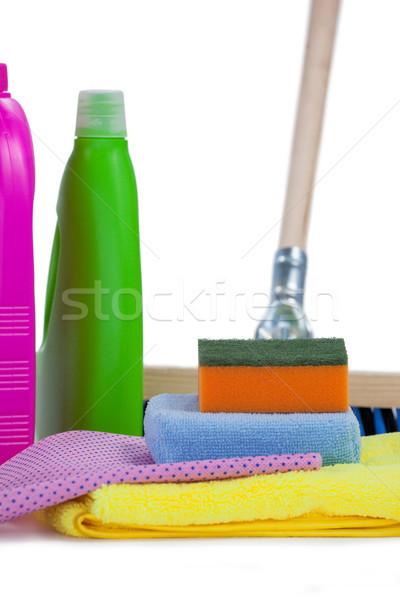 Detergent ręcznik serwetka tkaniny piętrze biały Zdjęcia stock © wavebreak_media