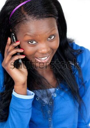 Kobiet piosenkarka cyfrowe tabletka Zdjęcia stock © wavebreak_media