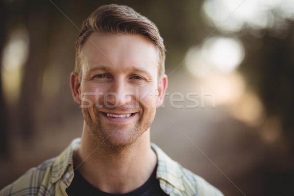 Portre gülen genç zeytin çiftlik Stok fotoğraf © wavebreak_media