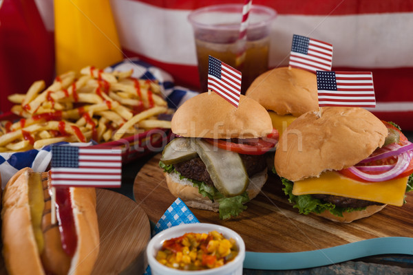 Hot Dog украшенный мяса Сток-фото © wavebreak_media
