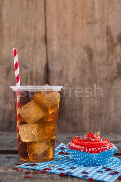 装飾された 冷たい飲み物 木製のテーブル パーティ ストックフォト © wavebreak_media