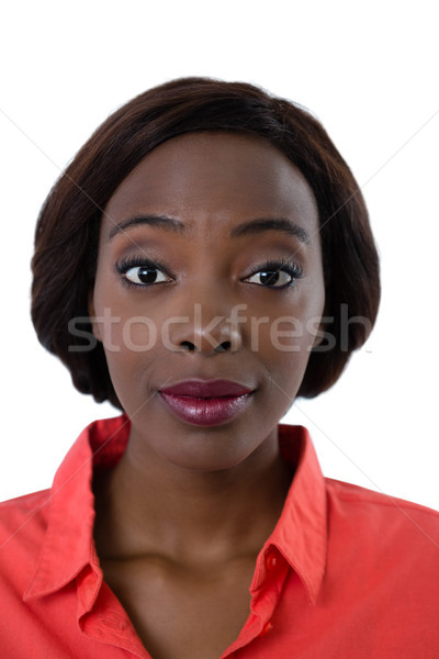 Close up portrait of woman with raised eyebrows Stock photo © wavebreak_media