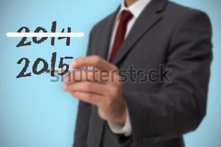 бизнесмен смартфон невидимый интерфейс Сток-фото © wavebreak_media