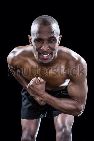 積極的な シャツを着ていない 選手 ラグビーボール 立って ストックフォト © wavebreak_media
