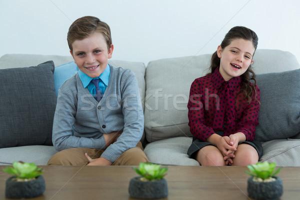 портрет счастливым деловые люди расслабляющая диван служба Сток-фото © wavebreak_media