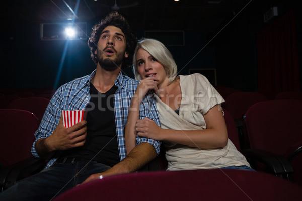 Paar geschokt naar film theater man Stockfoto © wavebreak_media